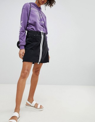 Cheap Monday Denim Skirt with White Zip