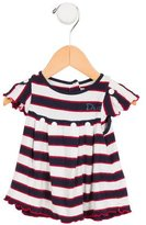 Christian Dior Girls' Striped Gathered Top
