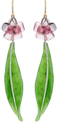 Irene Neuwirth 18kt rose and white gold One-Of-A-Kind flower earrings