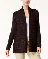 Karen Scott Marled Open-Front Cardigan, Created for Macy's