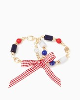Charming charlie Gingham Bow Bracelet Set