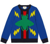 Gucci Children's beetle Web sweater