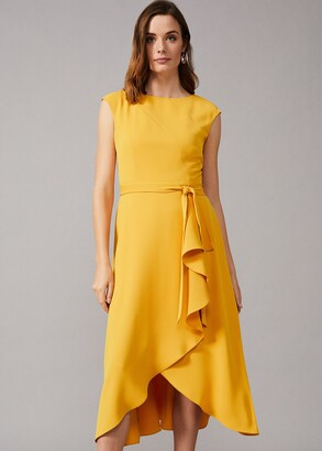 Phase Eight Rushelle Frill Midi Dress