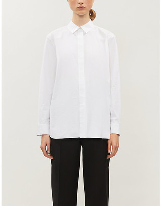 Theory Long-sleeved stretch-cotton shirt