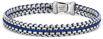 David Yurman 10mm Men's Woven Box Chain Bracelet, Blue