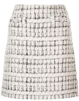 Paule Ka terry tweed mini skirt