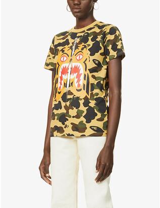 Bape 1st Camo Tiger graphic-print cotton-jersey T-shirt