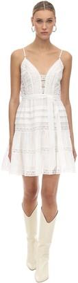 Zimmermann Linen & Lace Mini Dress