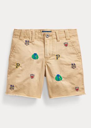 Ralph Lauren Embroidered Cotton Chino Short
