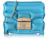 Furla Turquoise Rubber Metropolis Oxygen Mini Crossbody Bag