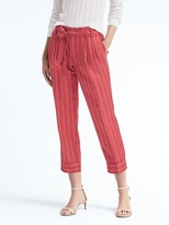 Banana Republic Avery-Fit Stripe Tie-Waist Linen Pant