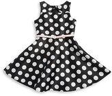 Marmellata Girls 7-16 Belted Polka Dot Dress