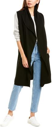 Raffi Shawl Collar Wool & Yak-Blend Vest