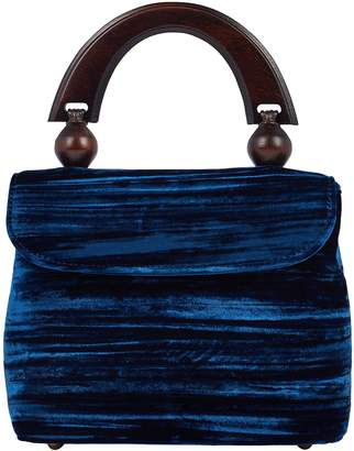 BY FAR Fiona Crushed Velvet Clutch