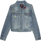 Juicy Couture Rockin Scotty embellished denim jacket 4-14 years
