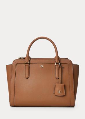 Ralph Lauren Crosshatch Leather Medium Brooke Satchel