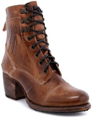 Bed Stu Lace-Up Leather Combat Boots - Judgement