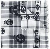 Alexander McQueen tartan skull scarf