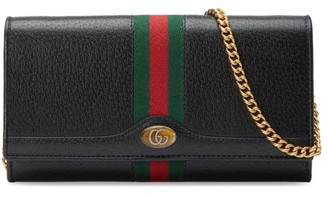 Gucci Ophidia Leather Chain Wallet