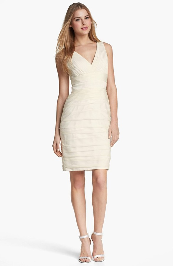 Monique Lhuillier ML Bridesmaids Ruched Cationic Chiffon Dress (Nordstrom Exclusive)