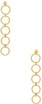 Luv Aj The Scattered Gem Loop Earrings in Metallic Gold.
