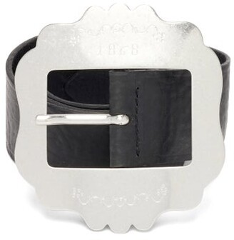 Isabel Marant Lewa Western-buckle Grained-leather Belt - Black