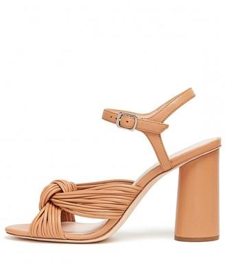 Loeffler Randall Cece High Heel Knot Ankle Strap Sandal in Dune