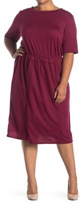 Forgotten Grace Short Sleeve Smock Waist Dress