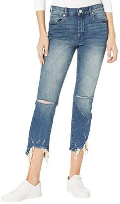 Blank NYC Madison High-Rise Crop Medium Wash Skinny Jeans w/ Raw Hem Detail in My Type (My Type) Women's Jeans