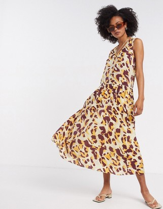 InWear printed maxi dress in yelow