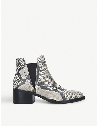 Steve Madden Cade snake-print faux-leather Chelsea boots