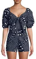 The Fifth Label Dot-Print Cotton Romper