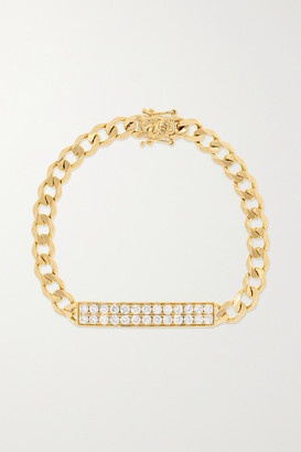 Sydney Evan Id Bar 14-karat Gold Diamond Bracelet - one size