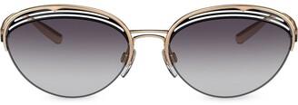 Bvlgari B.retrovibe Half Rim Oval sunglasses