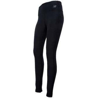New Balance Womens Space Dye Deep Waisted Running Tight Leggings Black