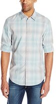 Calvin Klein Jeans Men's Reflection Plaid Woven with Rolled Sleeves