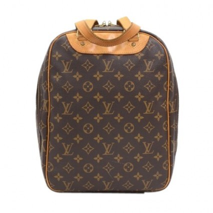 Louis Vuitton very good (VG Brown Monogram Canvas Sac Excursion Hand Bag