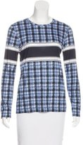 Derek Lam Plaid Print Long Sleeve T-Shirt