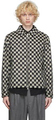 mfpen Black and White Cashpaca Zip Jacket