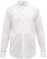 Paul Smith Pleated-bib Cotton Evening Shirt - Mens - White
