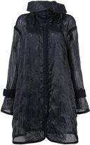Sacai transparent coat - women - Cotton/Nylon/Polyester - 3