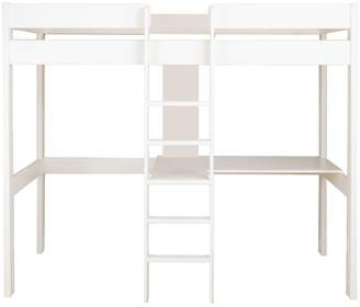 High Sleeper with Desk and Shelves