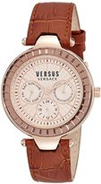 Versus By Versace Women's SOS050015 Sertie Multifunction Analog Display Quartz Brown Watch