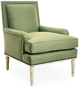 Bunny Williams Home Azure Accent Chair - Green Linen
