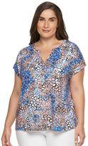Dana Buchman Plus Size Printed Dolman Top