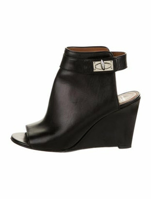 Givenchy Leather Wedge Booties Black