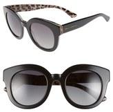Dolce & Gabbana 'Animalier' 49mm Polarized Retro Sunglasses