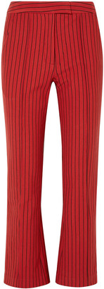 Rosie Assoulin The Scrunchy Striped Cotton-blend Jacquard Flared Pants