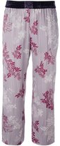 Forte Forte floral stripe cropped trousers - women - Cupro/Viscose - 0