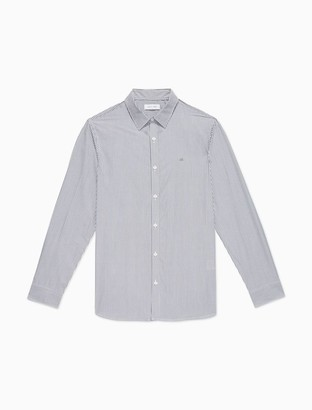 Calvin Klein Striped Button-Down Long Sleeve Shirt